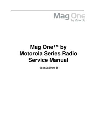 Motorola Bpr40 Magone 6816986h01 B Manual