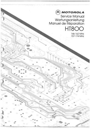 Motorola Two Way Portable Radio Ht800 Vhf Fmr 1351 1 Manual