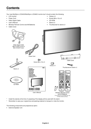 NEC Multisync Lcd4020 Users Manual