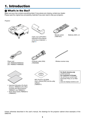 NEC Projector UM301X User Manual