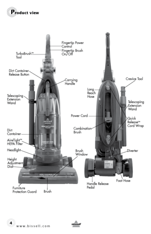 Bisell Healthy Home Vacuum 61Z4 User Manual