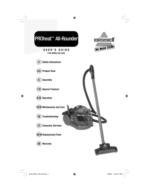 Bisell PROheat AllRounder 7700 User Manual