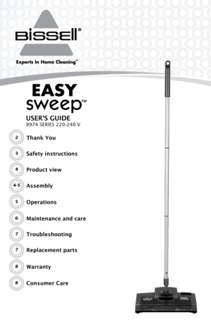 Bisell Easy Sweep 9974e User Manual