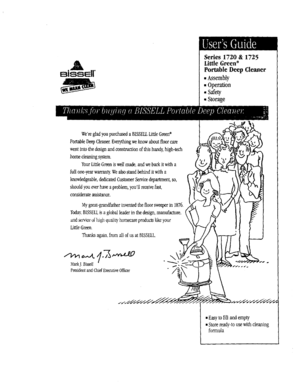 Bissell 17201 Manual