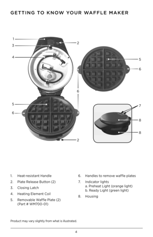 Black and Decker Waffle Maker WM700R User Manual