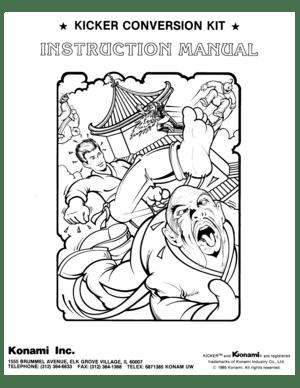Konami Kicker Instruction Manual