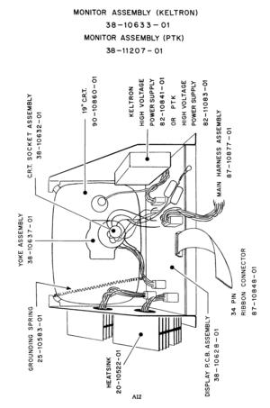 Cinematronics Keltron Monitor Schematics Manual