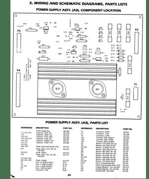 Gottlieb Q Bert Power Supply Diagram Schematic Sheets Manual