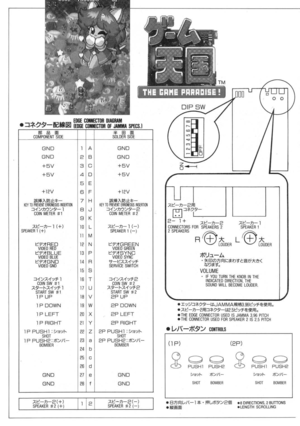 Jaleco The Game Paradise Information Manual
