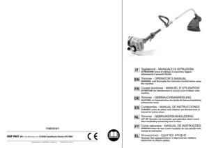 GGP Italy SPA Trimmer 71501012_1 Operators Manual