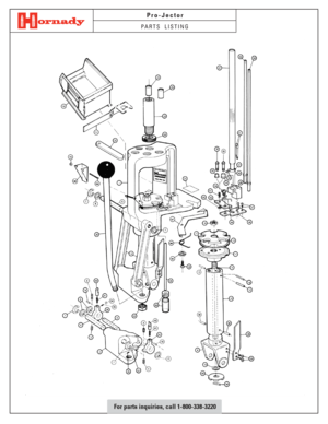 Hornady Pro-Jector Parts Listing Manual