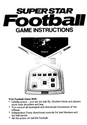 Bambino Superstar Football Game Instructions