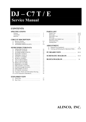 Alinco DJ-C7T/E Service Manual