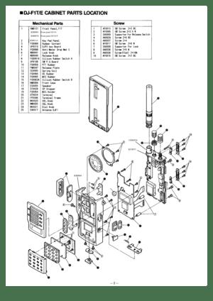Alinco DJ-F1T/E/H DJ-S1T/E VHF FM Handheld Transceiver