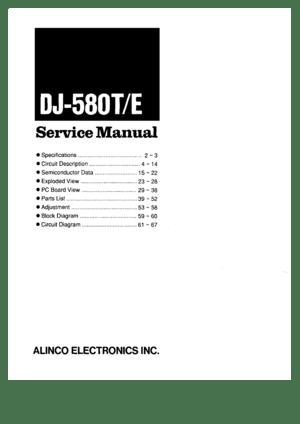 Alinco Dj-580t/e Service Manual