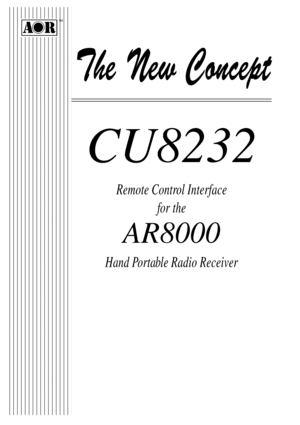 AOR CU8232 Remote Control Interface Instructions
