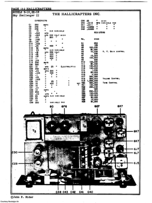 Hallicrafters Sx-18 Communications Reciever Scheme Manual