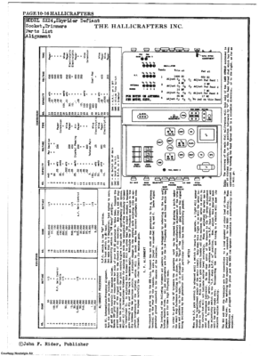 Hallicrafters Sx-24 Communications Reciever Scheme Manual