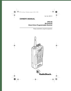 RadioShack Pro 66 Direct Entry Programmable Scanner