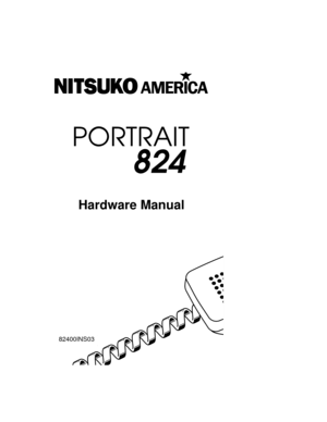 Nitsuko Portrait 824 Hardware Manual