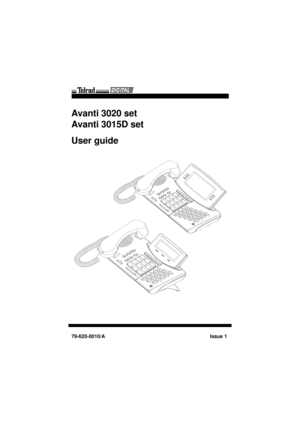 Telrad Digital Telrad Avanti 3020, 3015d Set User Guide