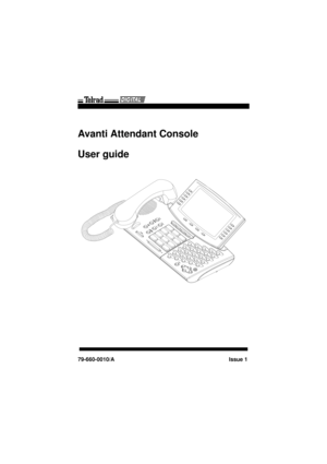 Telrad Digital Avanti Attendant Console User Guide