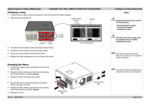 Digital Projection Projector E-Vision 8000 User Manual