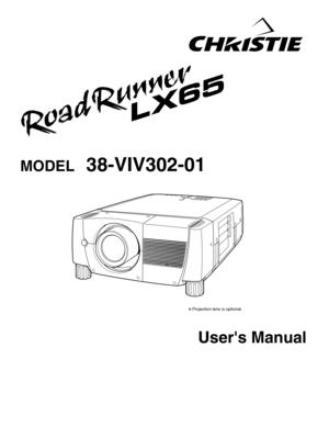 Projector Christie Roadrunner Lx65 User Manual