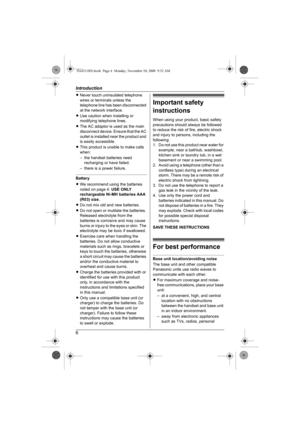 Panasonic 58ghz Cordless Phone Manual