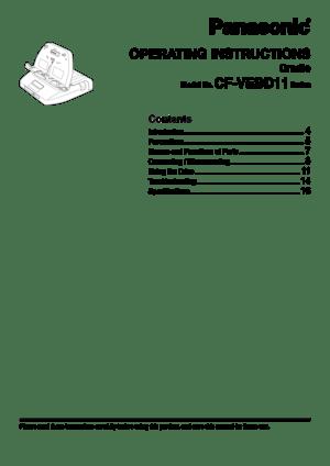 Panasonic Cfd1 Owners Manual