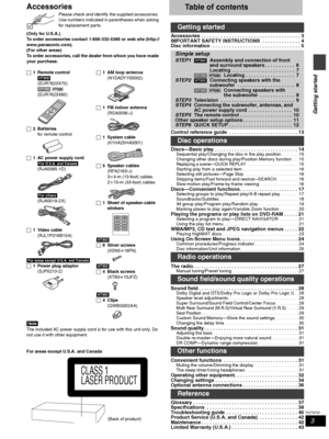 Panasonic Sc Ht700 Operating Instructions