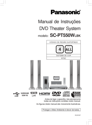 Panasonic Sc Pt550ee S Portuguese Version Manual