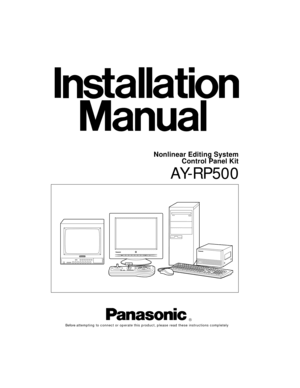 Panasonic AY-RP500 Installation Manual