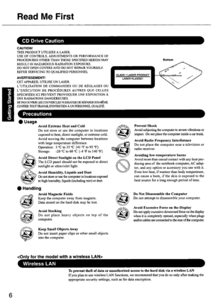 Panasonic Cf 50aakhudm Owners Manual