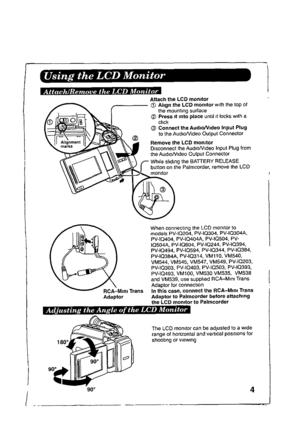 Panasonic Palmcorder PV-LCD35 Operating Instructions