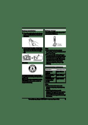 Panasonic Expandable Digital Cordless Hanset Kx-tga300