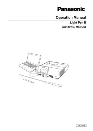 Panasonic Light Pen 2 Operation Manual