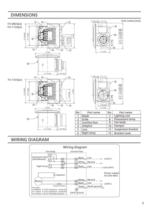 Fv 11vql6 Panasonic Fan Wiring Diagram : 38 Wiring Diagram