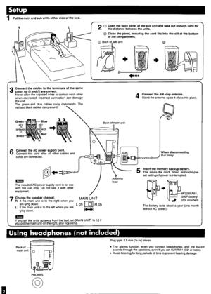 Panasonic Cd Clock Radio Rc-cd600 Operating Instructions