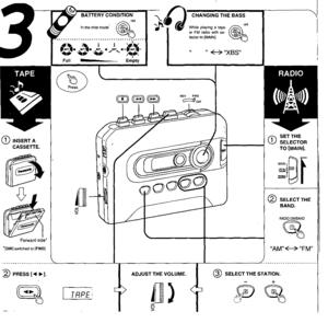 Panasonic Stereo Radio Cassette Player Rq-e20v Operating