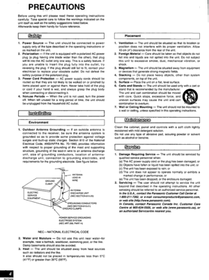 Panasonic Av Control Receiver Sa-he7 Operating Instructions