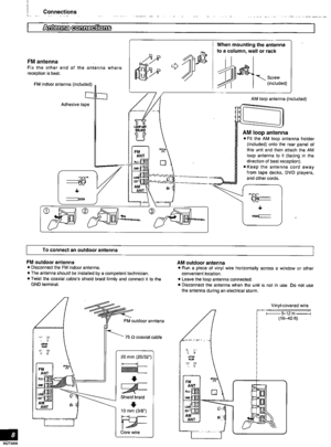 Panasonic Av Control Receiver Sa-he7 Operating Instructions