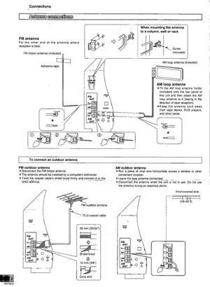 Panasonic Av Control Receiver Sa-he9 Operating Instructions