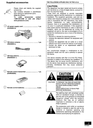 Panasonic Cd Stereo System Sc-pm07 Operating Instructions