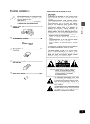 Panasonic Cd Stereo System Sc-pm25 Operating Instructions