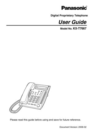 Panasonic Kxt7667 User Manual