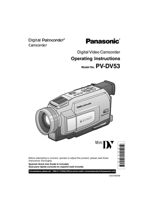 Panasonic Pv Dv53 Operating Instructions Manual