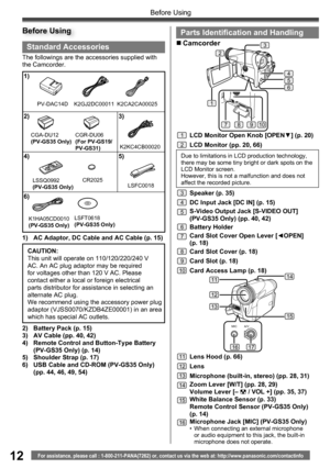 Panasonic Pv Gs19 Operating Instructions Manual