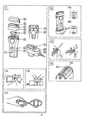 Panasonic Shaver Wet Dry Es 8033 Operating Instructions
