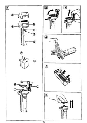 Panasonic Shaver Wet Dry Es 866 Operating Instructions
